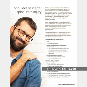 Shoulder Pain After Spinal Cord Injury