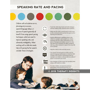 Speaking rate and pacing - speech therapy handout for parents and caregivers - speech therapy - pediatric speech therapy - SLP - Therapy Insights - Therapy Fix