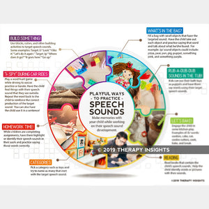 Playful ways to practice speech sounds at home - pediatric speech therapy materials - Therapy Insights - Therapy Fix
