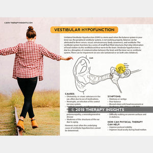 Load image into Gallery viewer, Vestibular hypofunction. Health literacy handout for physical therapists. Physical therapy handout for patients. Therapy Fix. Therapy Insights.