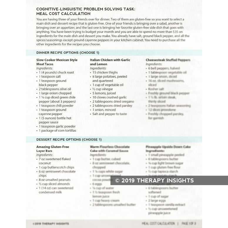Med/Rehab Speech-Language Pathology Therapy Fix No. 19 (Released Jul 2019)