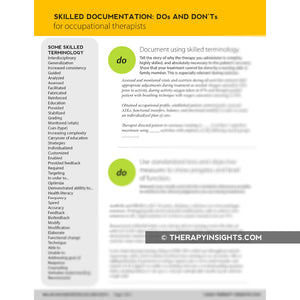 Skilled Documentation Dos and Don'ts