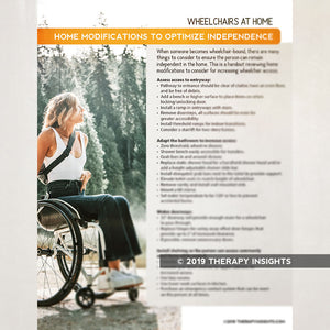 Wheelchairs at Home: Home Modifications to Optimize Independence