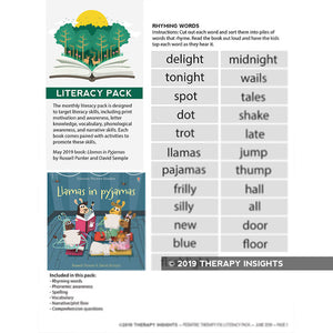 Literacy Pack - pediatric speech therapy materials - Pediatric SLP - Therapy Insights - Therapy Fix