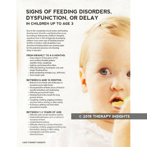 Signs of pediatric feeding disorders, dysfunction, or delay - pediatric feeding therapy - Therapy Insights - Therapy Fix