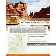 Calculating Miles between National Parks to Plan Trip