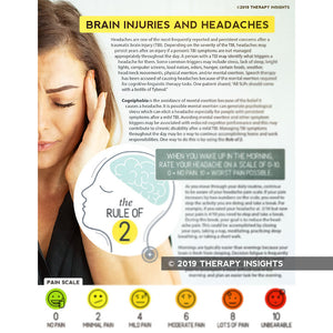 Traumatic brain injury and headaches - speech therapy materials for adults - SLP materials for cognitive-linguistic rehabilitation - Therapy Insights - Therapy Fix