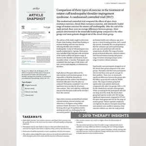Article snapshot for physical therapists. Therapy Fix. Therapy Insights.