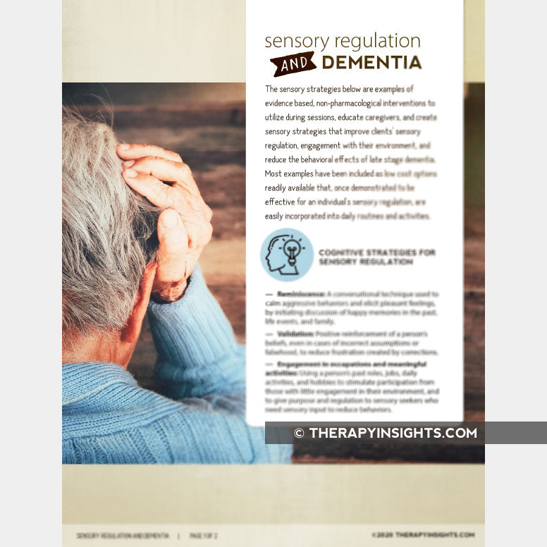 Sensory Regulation and Dementia