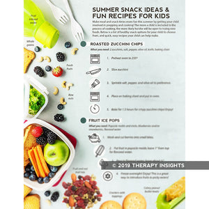 Summertime recipes for kids - pediatric feeding therapy - Therapy Insights - Therapy Fix