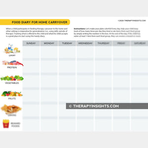 Food Diary for Home Carryover
