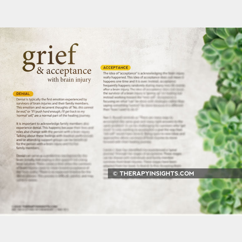 Group Therapy Activity: Grief and Acceptance with Brain Injury