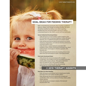 Load image into Gallery viewer, Goal ideas for pediatric feeding therapy - Pediatric speech therapy - SLP - Therapy Insights - Therapy Fix