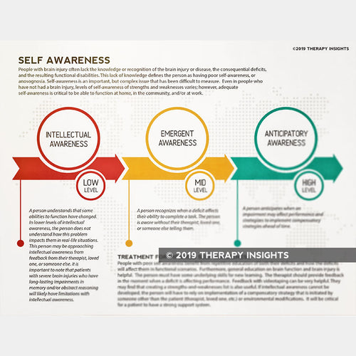 Self awareness - rehabilitation therapy - OT - SLP - PT - health literacy - brain injury - Therapy Insights - Therapy Fix