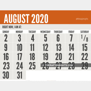 Large print calendars for people with low vision.