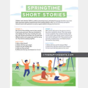 Springtime Short Stories
