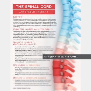 Spinal Cord Injury and Speech Therapy