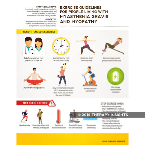Exercise guidelines for people living with myasthenia gravis and myopathy - physical therapy for myasthenia gravis - myasthenia gravis - Therapy Insights - Therapy Fix
