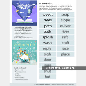 Book + Activities Pack: Giraffe in the Bath