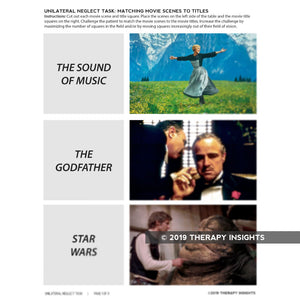 Unilateral Neglect Task: Matching Pictures to Movie Titles