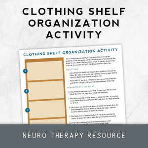 Clothing Shelf Organization Activity