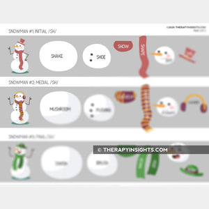 Articulation Activity: Building /ch/ and /sh/ Snowmen