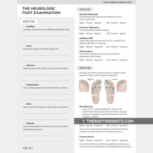 The Neurologic Foot Examination