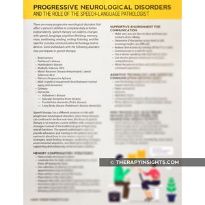 The SLP's Role with Progressive Neurological Disorders