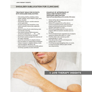 Shoulder Subluxation for clinicians - Therapy Insights - Therapy Fix