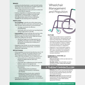 Wheelchair Management and Propulsion