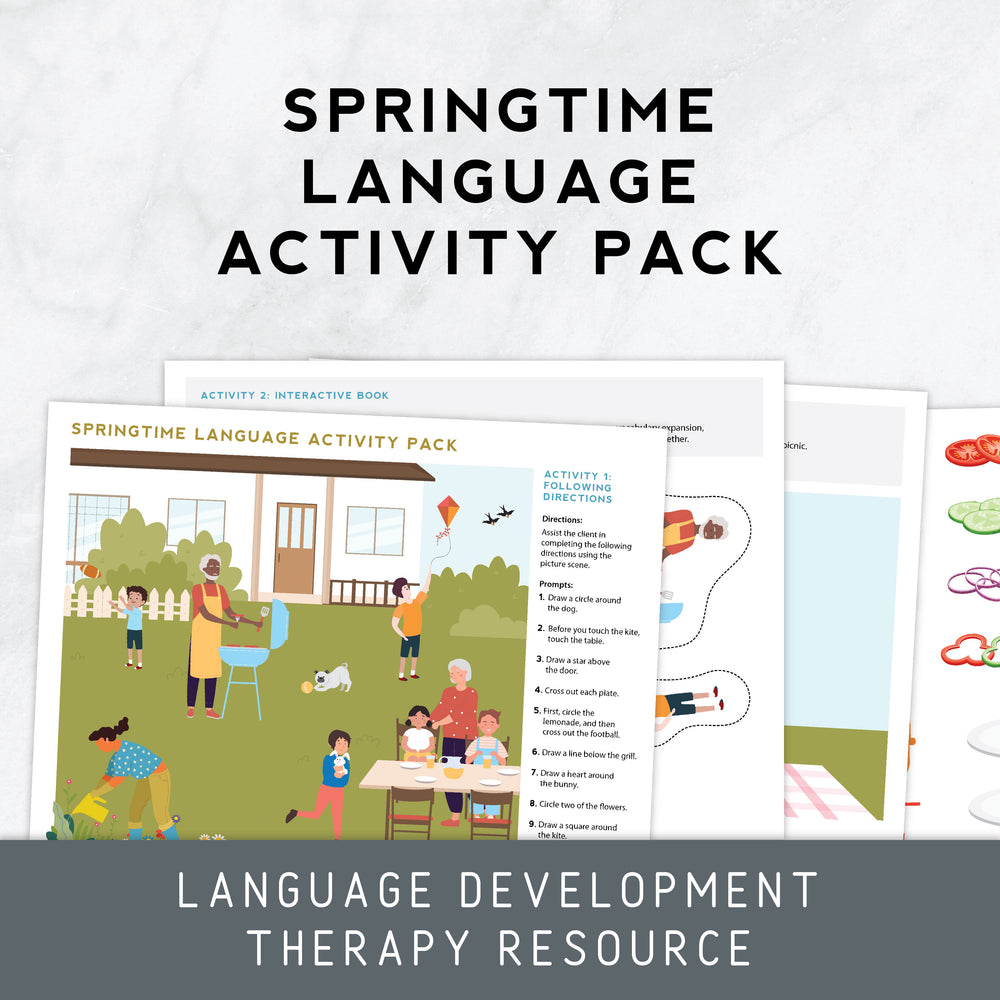 Load image into Gallery viewer, Springtime Language Activity Pack