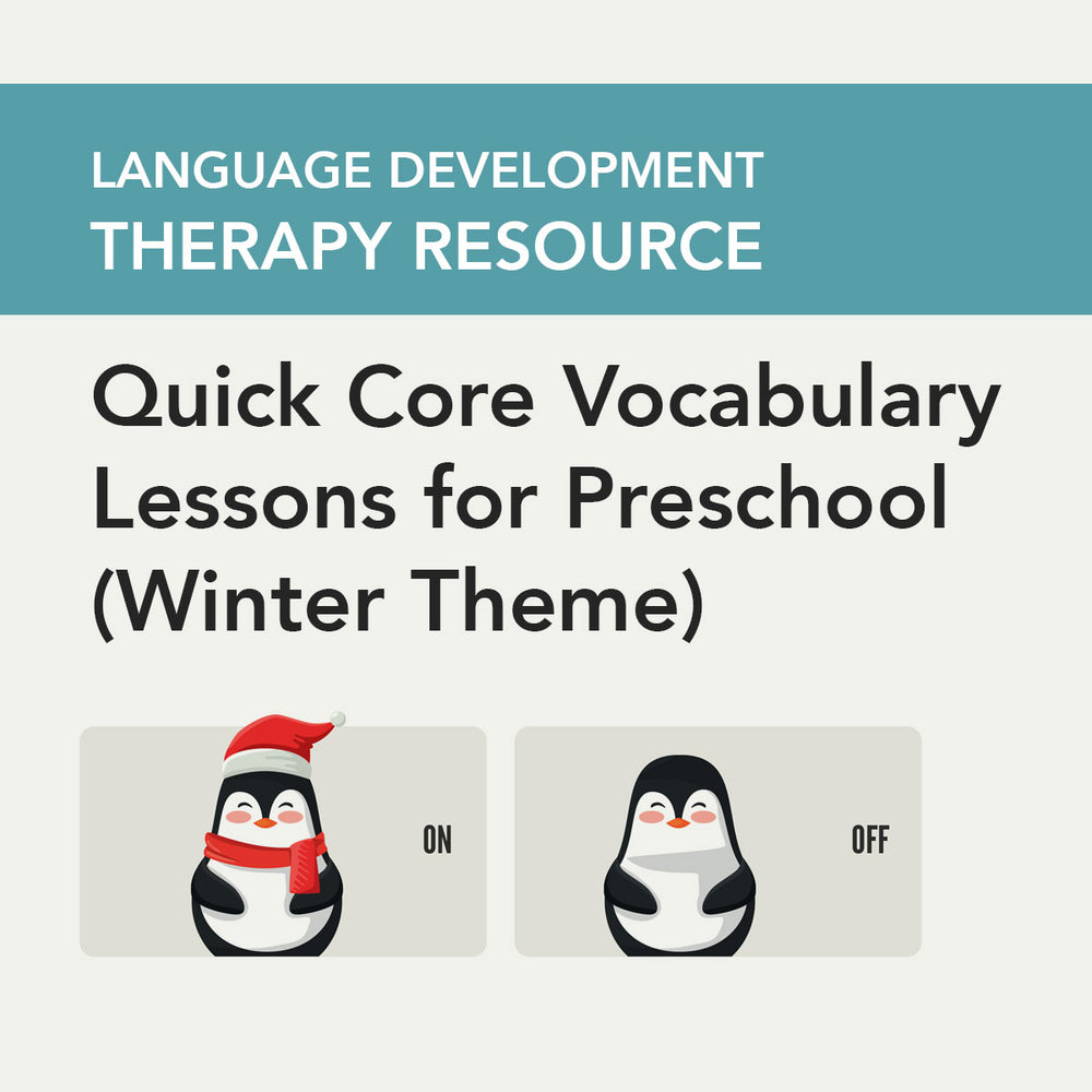 Load image into Gallery viewer, Quick Core Vocabulary Lessons for Preschool (Winter Theme)