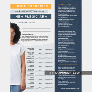 Home Exercise Program for Self Range of Motion for Hemiplegia