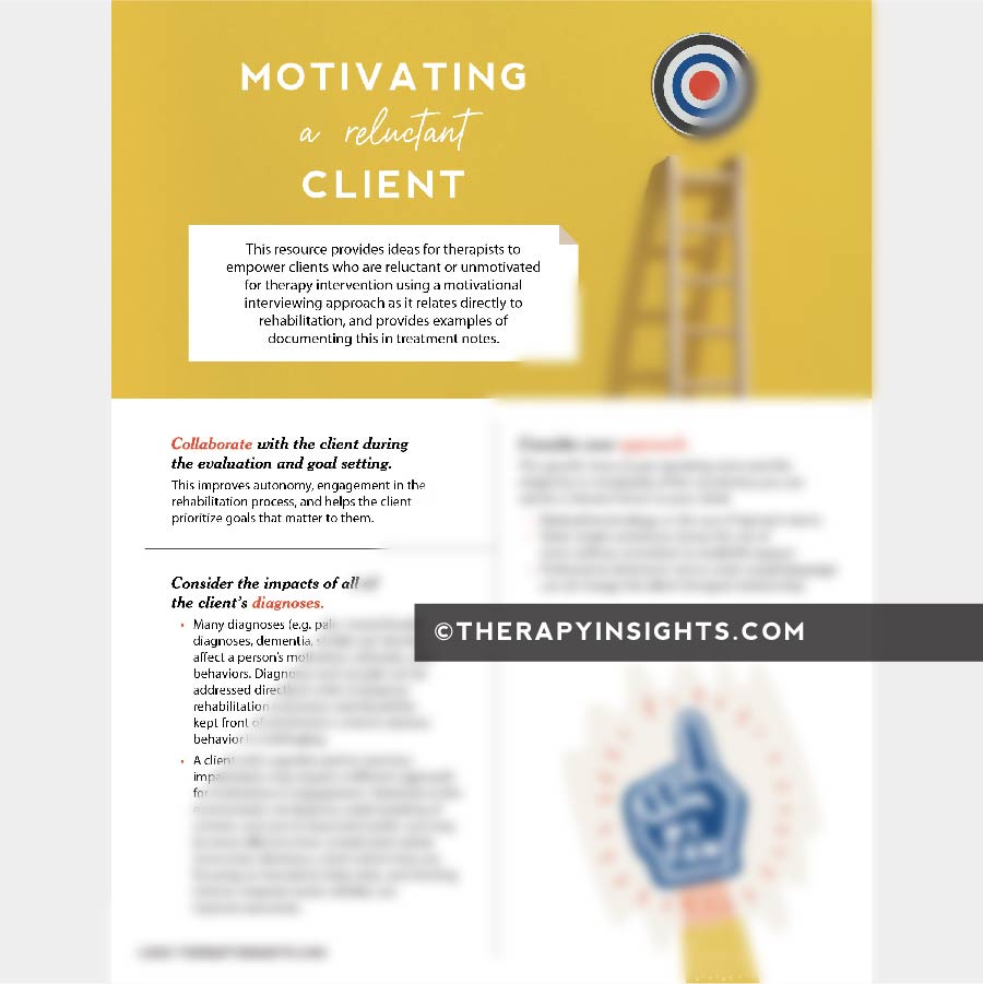 Motivating a Reluctant Client