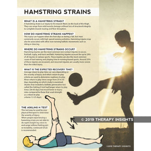 Hamstring Strains - health literacy handouts for physical therapists - Therapy Insights - Therapy Fix