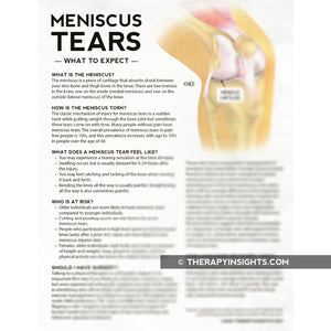 Meniscus Tears: What to Expect