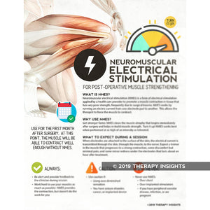 Neuromuscular electrical stimulation - post-operative muscle strength training - PT - physical therapy handouts - health literacy for physical therpay - Therapy Insights - Therapy Fix