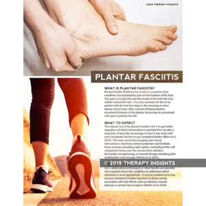 Plantar fasciitis handout for patients - health literacy for physical therapists - Therapy Insights - Therapy Fix