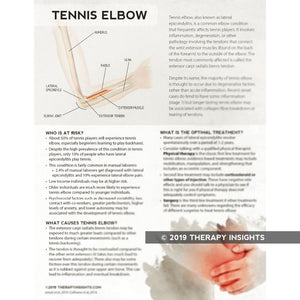 Tennis Elbow: What to Expect