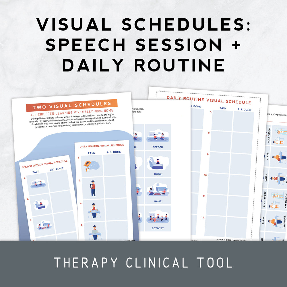 Visual Schedule for Children Learning Virtually From Home