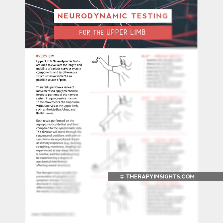 Neurodynamic Testing for the Upper Limb