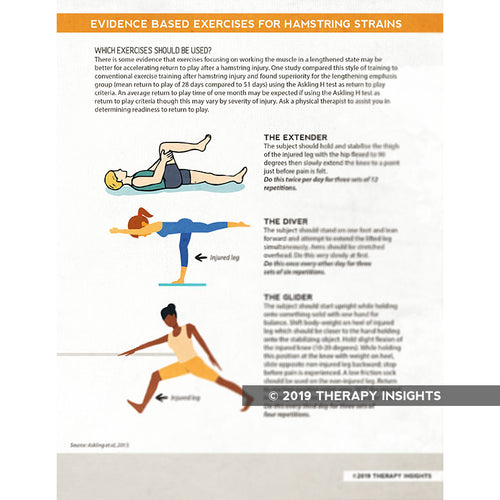 Hamstring exercises - visualizing physical therapy - Therapy Insights - Therapy Fix