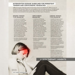 Intervention Dosage Guidelines for Persistent Tension and Cervicogenic Headaches