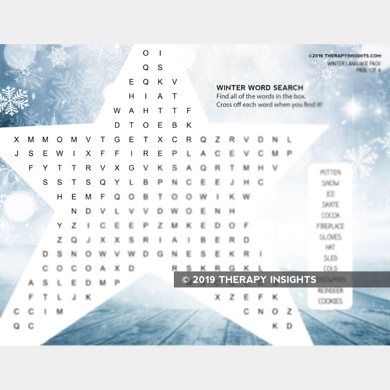 Winter-Themed Language Activity Pack