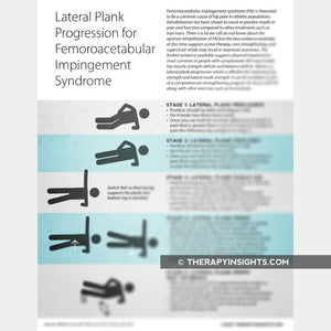 Lateral Plank Progression for Femoroacetabular Impingement Syndrome