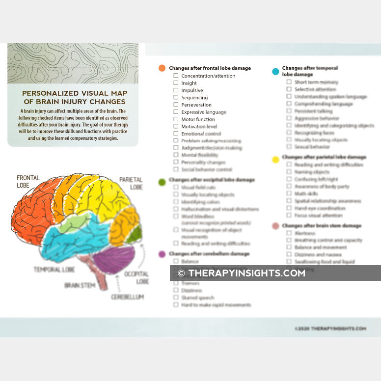 Personalized Visual Map of Brain Injury Changes