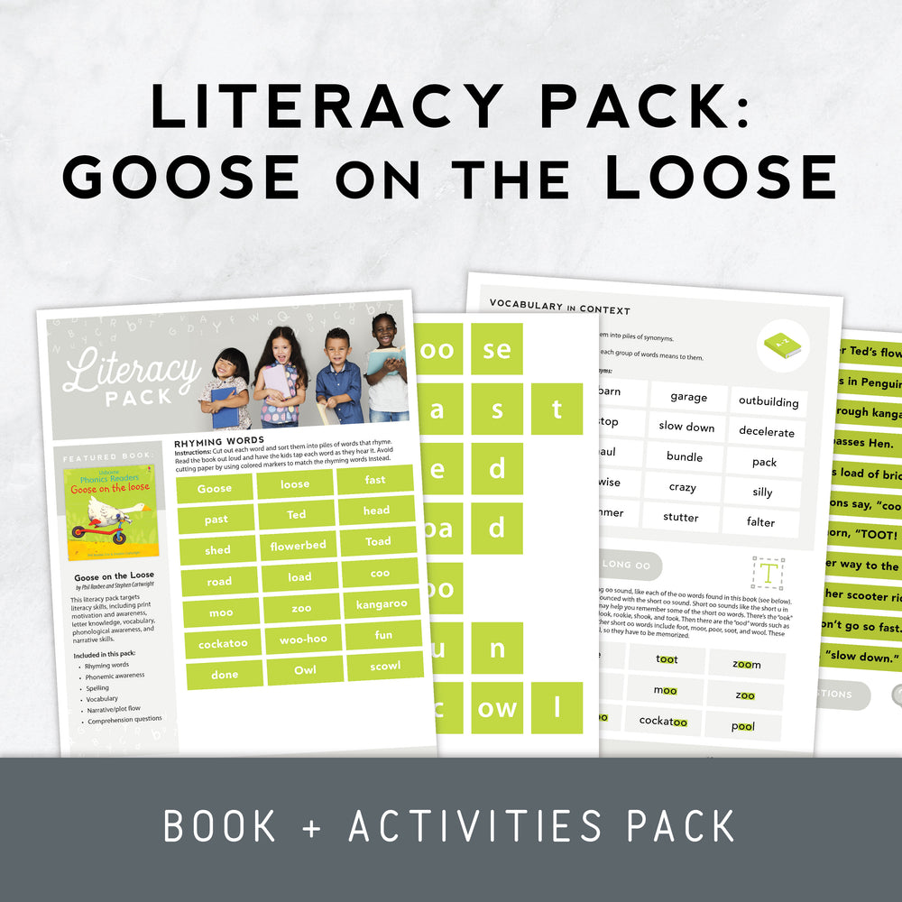 Book + Activities Pack: Goose on the Loose