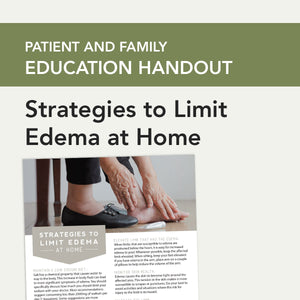 Strategies to Limit Edema at Home