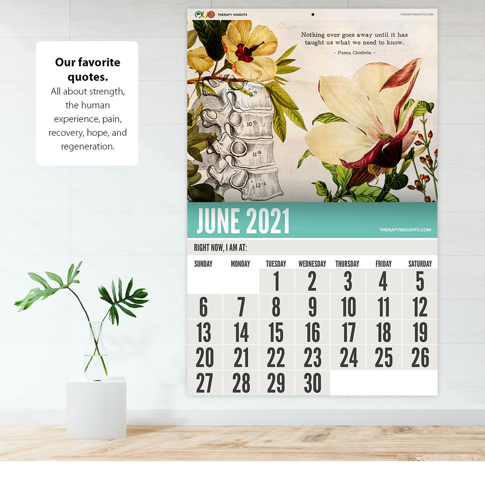 2021 Therapy Insights Calendar