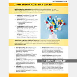 Common Neurologic Medications